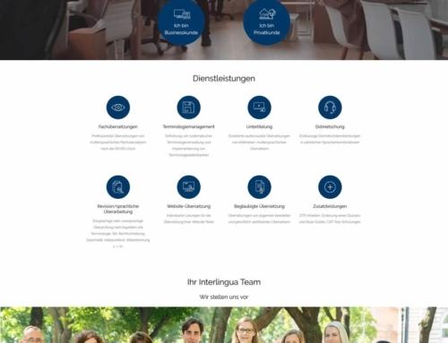 Neugestaltung der Homepage für Interlingua Sprachdienstleistungen