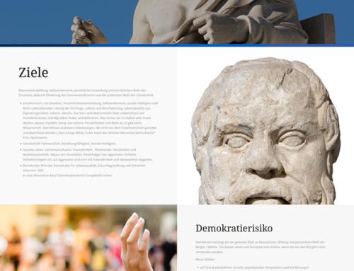 """Onepager für die """"Bildungsinitiative Korbei"""""""