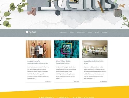 Relaunch der Homepage für die Cetus Baudevelopment GmbH