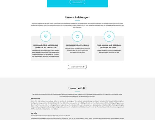 """Relaunch der Homepage für das Institut """"Frauen.Gesundheit.Nussdorf"""""""