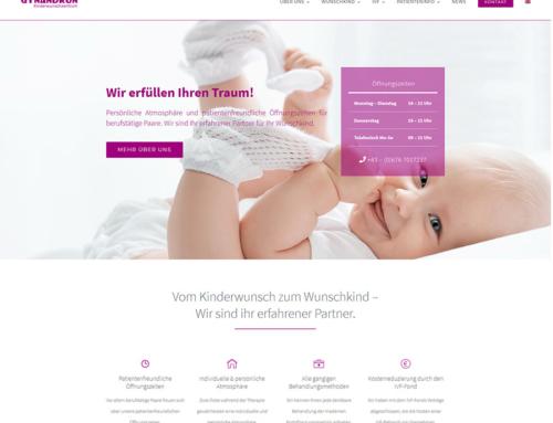 Frische Farben, frischer Auftritt – Relaunch der Website für das Kinderwunschzentrum Gynandron, Wien