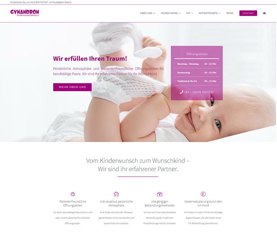 Relaunch der Website für das Kinderwunschzentrum Gynandron