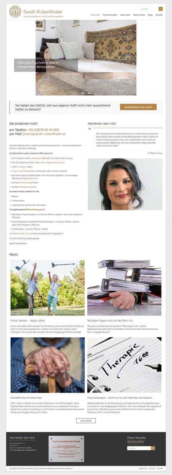 wordpress website psychoanalyse