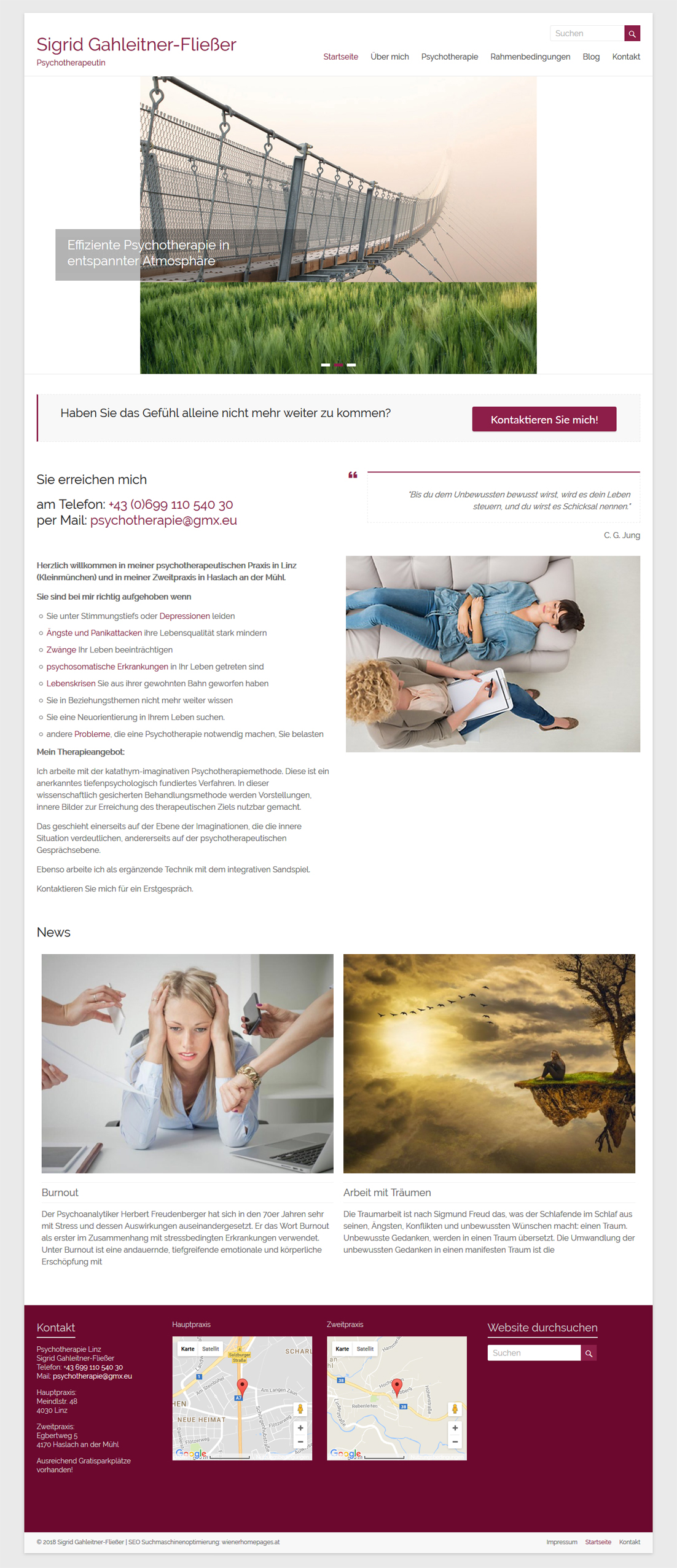 webdesign linz psychotherapeutin