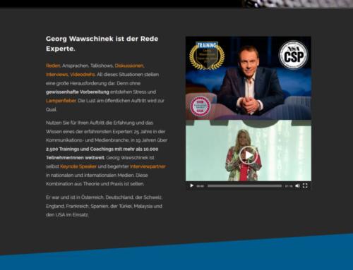 Webdesign auf neuestem Stand: die Website von Georg Wawschinek