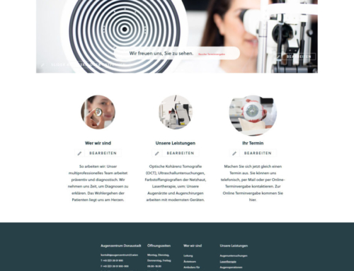 WordPress Webseite Augenzentrum Donaustadt