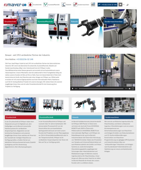 wordpress website aus wien für maschinenbauer fjmayer