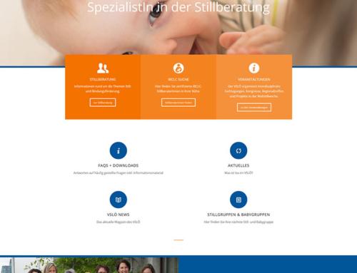 Relaunch der Website für den Verband der Still- und LaktationsberaterInnen Österreichs
