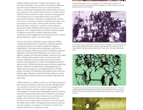 "Website für das Forschungsprojekt ""ZARAH"""