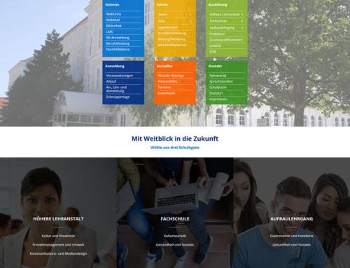 Neugestaltung der Homepage für die Höhere Lehranstalt Biedermannsdorf