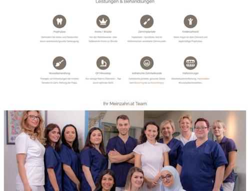 Relauch der Website für die Zahnarzt Praxen Dr. Zsolt Fischer