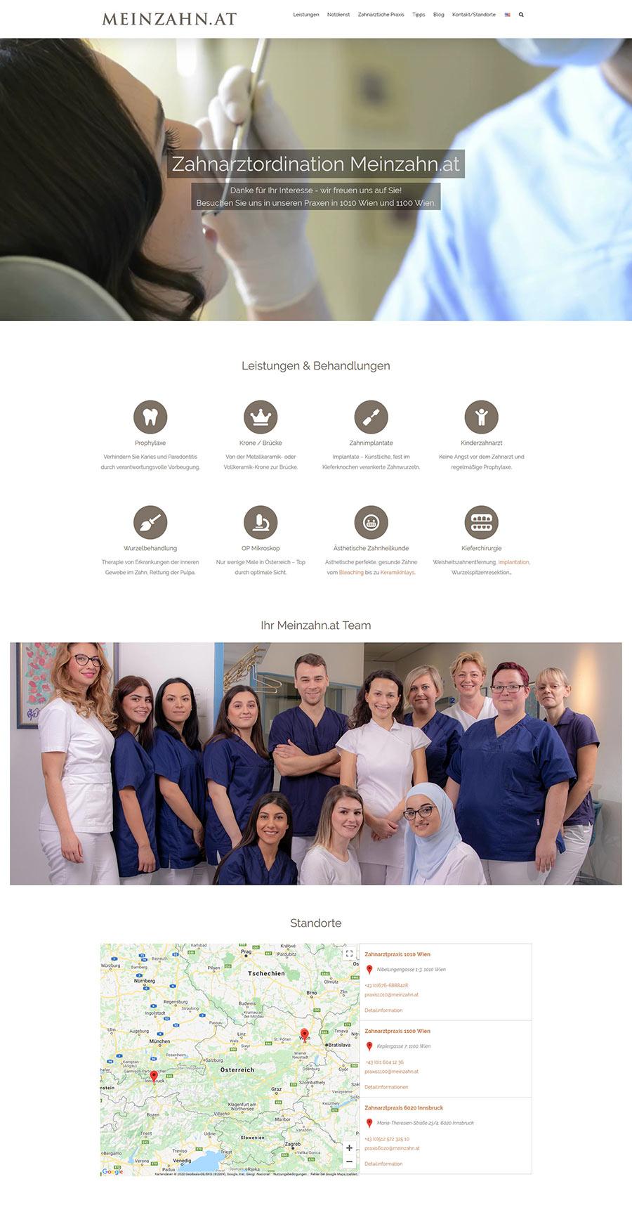 Neugestaltung der Homepage für Zahnarzt Praxis Dr. Fischer