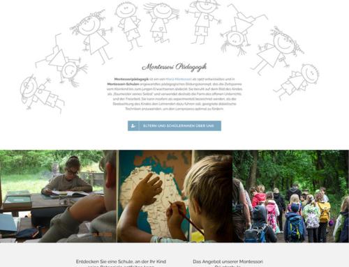 Homepage für Schulen / Schulhomepages: Montessori Schule Marchegg