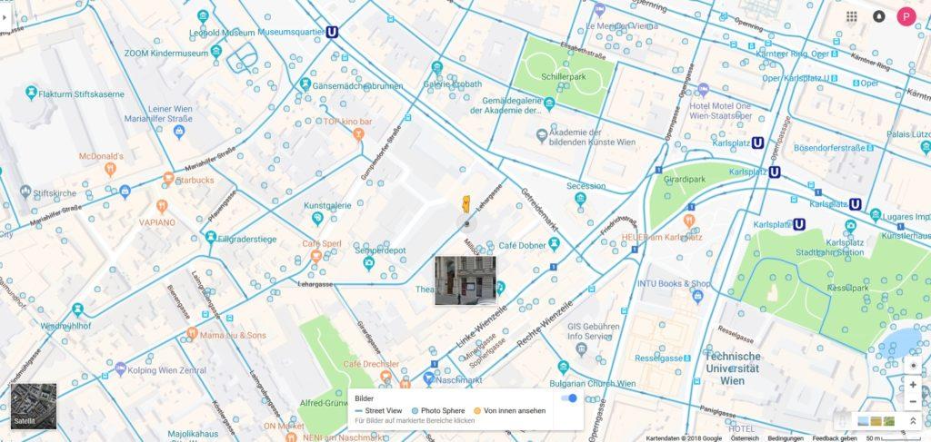 Google Street View starten