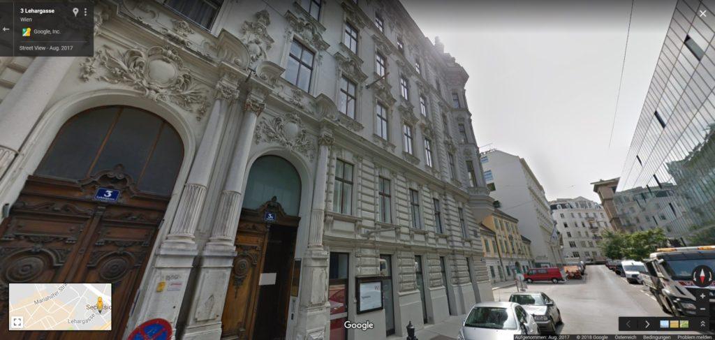 Google Street View vor dem Büro in der Lehargasse.