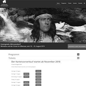 Website Relaunch für die Festspiele Winzendorf